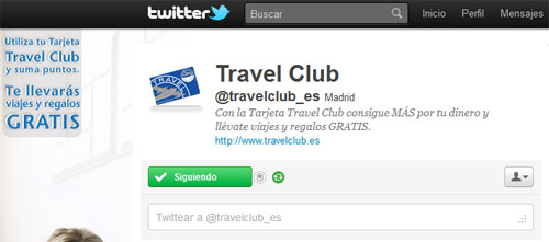 Travel Club Twitter